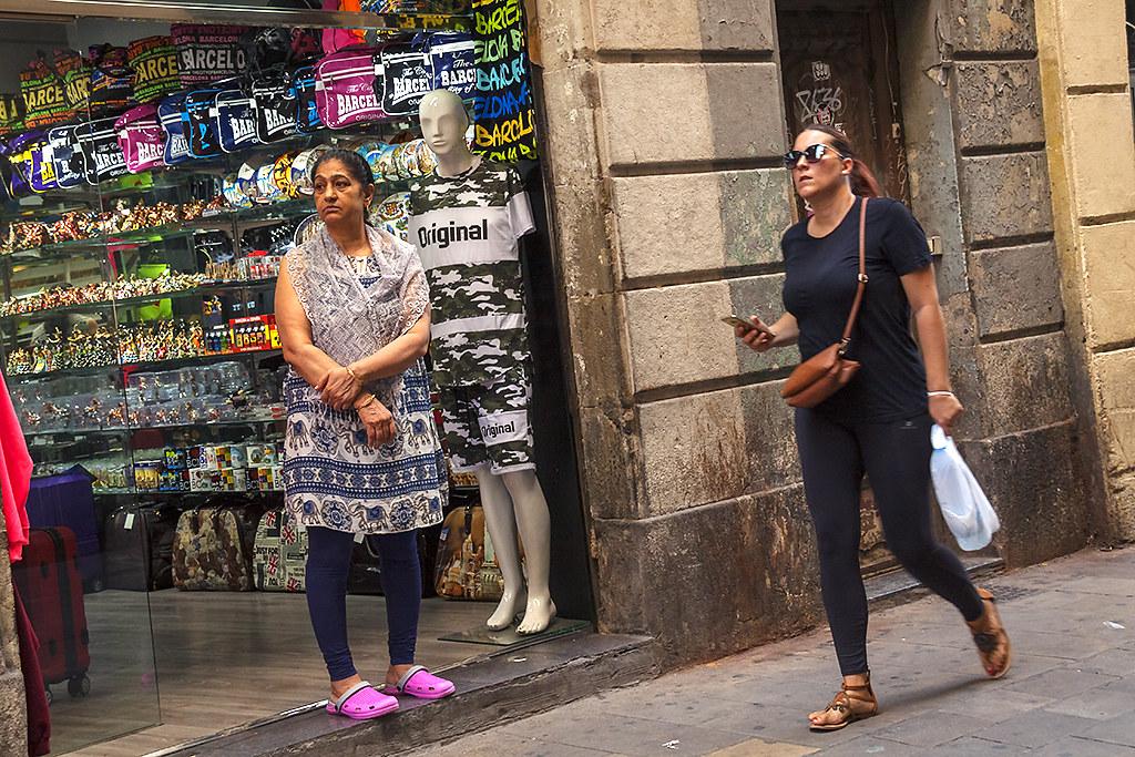 Female shopkeeper in El Raval--Barcelona