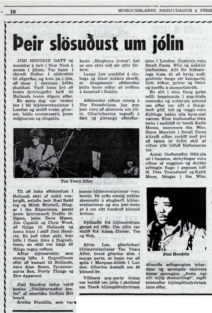Morgunblaðið (MORNING PAPER) (ICELAND) FEBRUARY 4, 1969