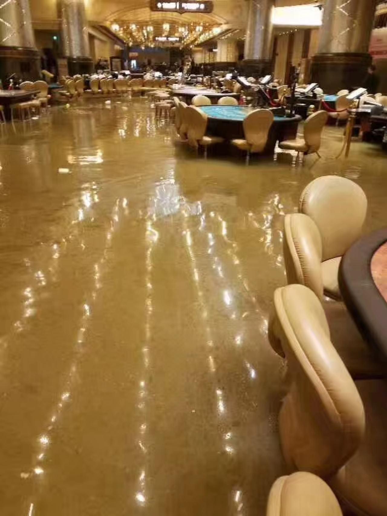 澳門廣泛地區受水浸影響。(網上圖片)