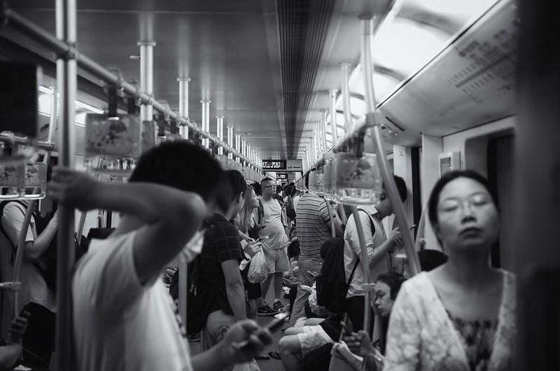 Crowded Shanghai Metro