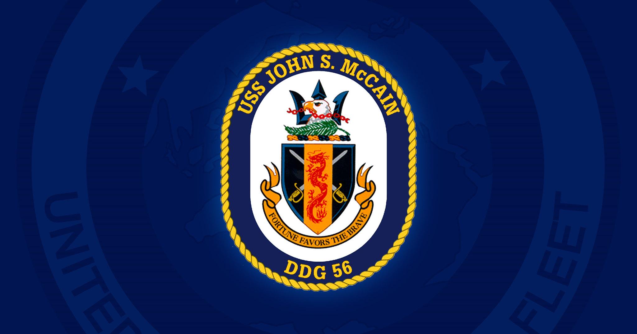 USS John S  McCain commanding officer, executive officer