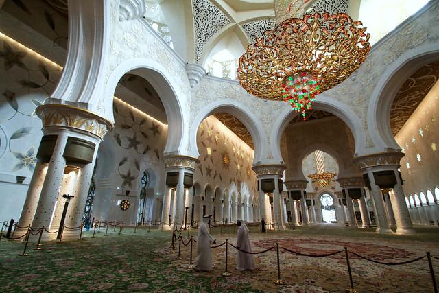 Happy Friday! / Interior of the Sheikh Zayed Mosque, Abu Dhabi