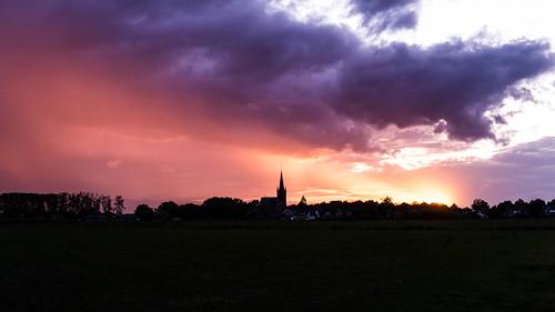 Sunset over Boerhaar - Explored