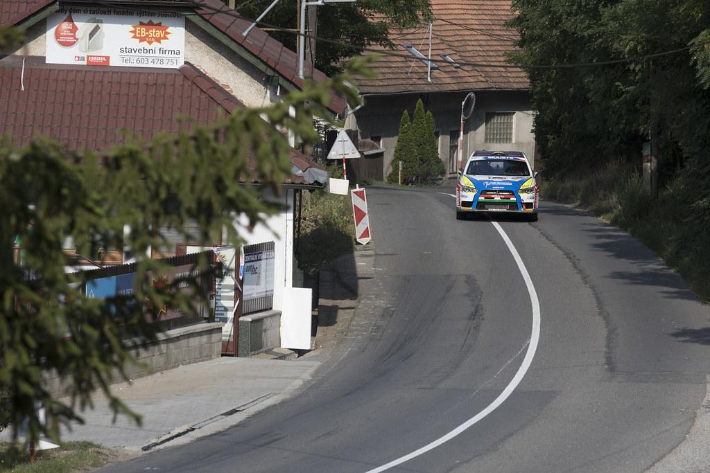 32 ERDI Tibor Jr. (HUN) PAPP Gyorgy (HUN) Mitsubishi Lancer Evo X action during the 2017 European Rally Championship ERC Barum rally,  from August 25 to 27, at Zlin, Czech Republic - Photo Gregory Lenormand / DPPI