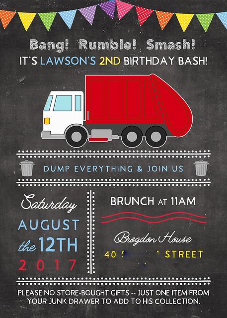 lawson birthday invitation