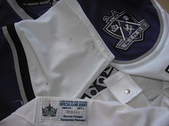 shoulder patch, game wear and LA Kings GW-Tag