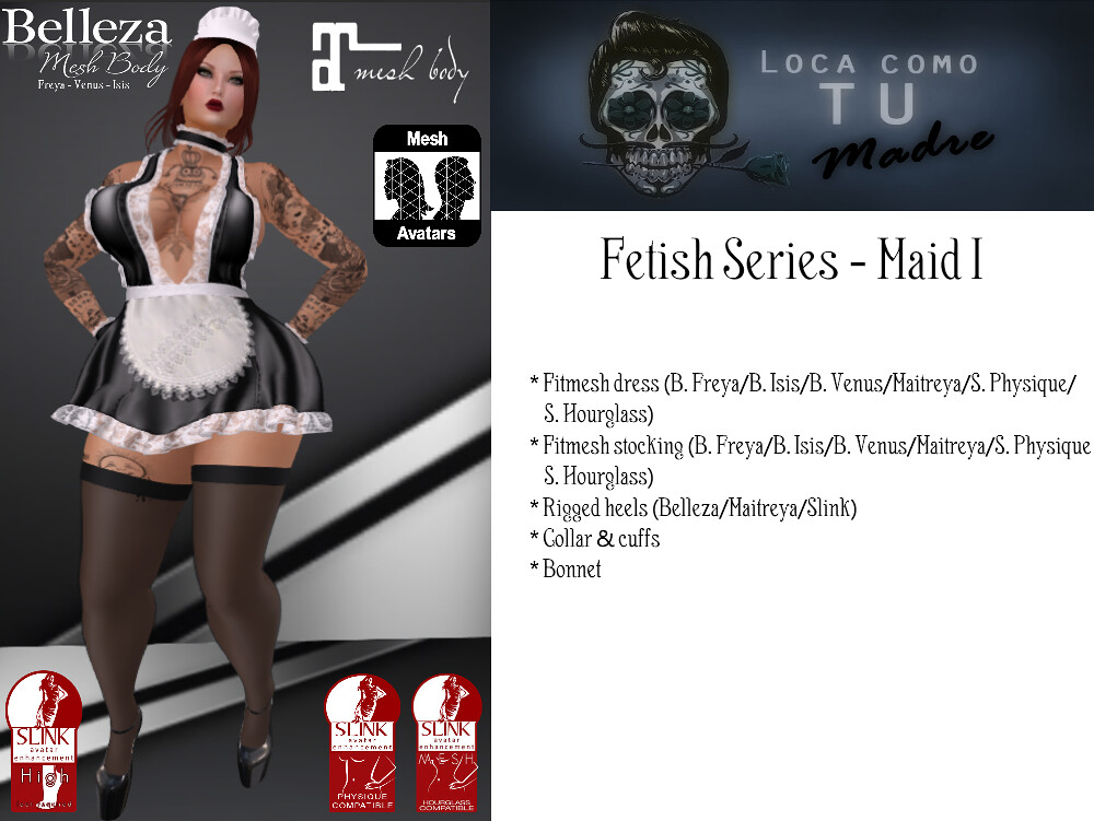 Fetish Series - Maid I - SecondLifeHub.com