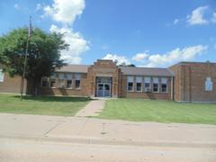 65. The old blond-brick Utica Grade School, 6-26-17