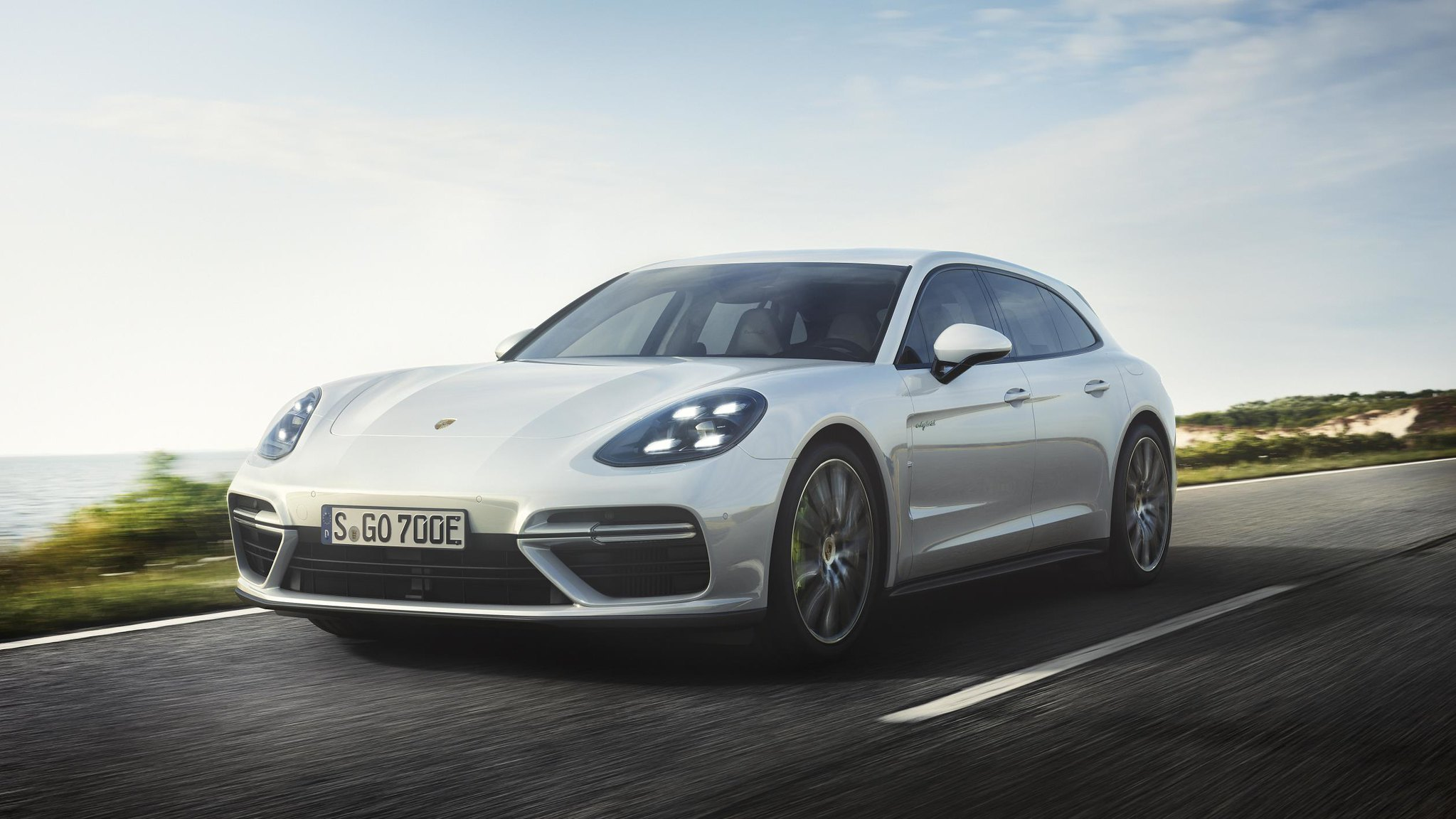 Porsche Panamera Turbo S E-Hybrid Sport Turismo: zero to 60 mph in 3.2 seconds; top track speed of 192 mph