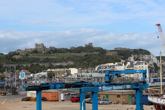 Dover Marina and Dover Castle