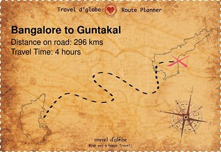 Map from Bangalore to Guntakal