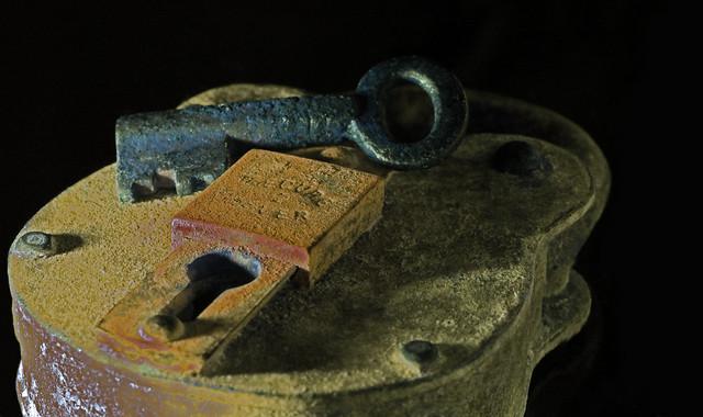 Old Padlock & Key