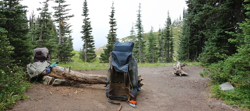 It was breezy after the storm so we found a campsite at Cloudy Pass that was more protected by pine trees