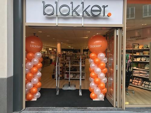 Ballonpilaar Breed Rond Bedrukt Opening Blokker Spijkenisse