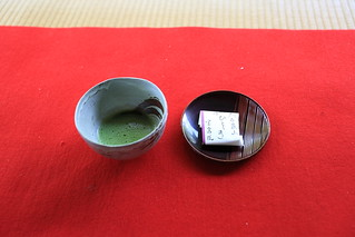 Green tea and Japanese confectionery