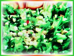 Salad dish with thin slices of Psophocarpus tetragonolobus (Four-angled Bean, Winged Bean/Pea, Princess/Asparagus Pea, Manila/Goa Bean, Kacang Botol in Malay), 28 Sept 2017