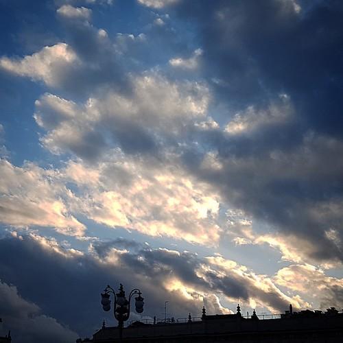 (inizio di) tramonto a Milano