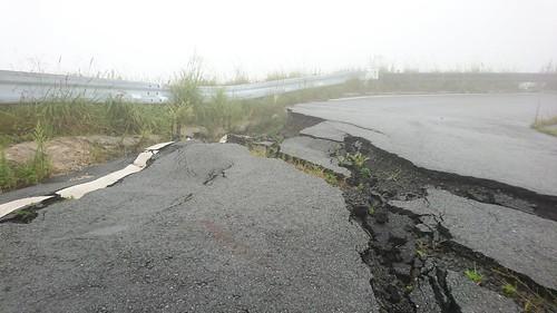 地震のせいで大変なことになってる