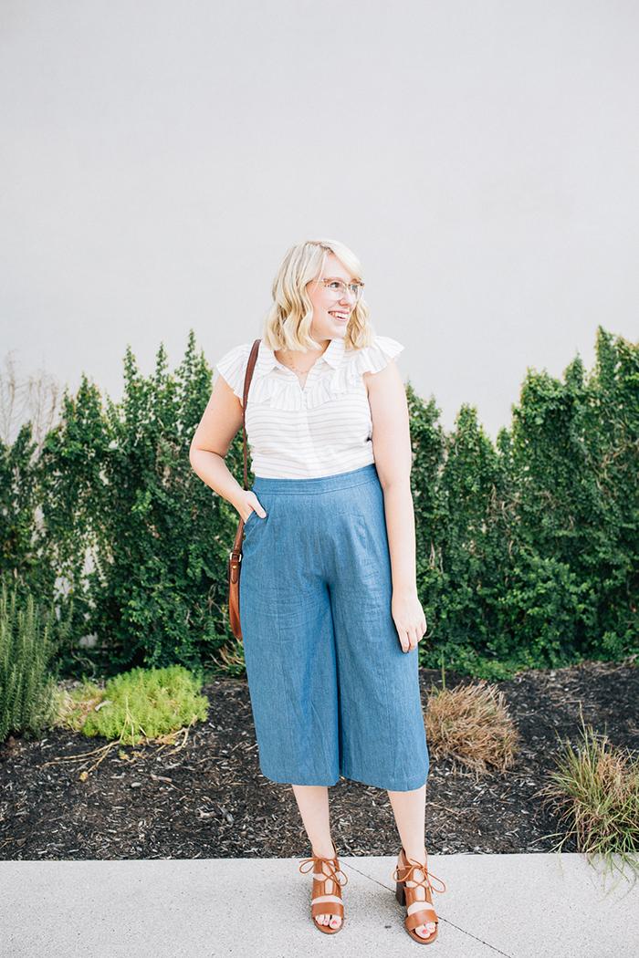 austin fashion blog writes like a girl modcloth chambray culottes1