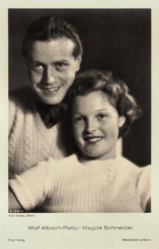 Wolf Albach-Retty and Magda Schneider