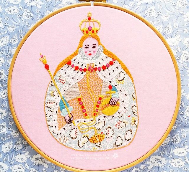 Gloriana embroidery pattern