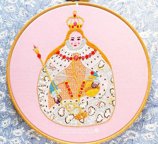 Gloriana embroidery pattern