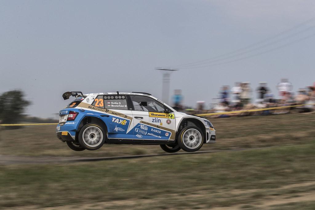 23 BOTKA David (HUN)  FERENCZ Ramon (HUN) Skoda Fabia R5 action during the 2017 European Rally Championship ERC Barum rally,  from August 25 to 27, at Zlin, Czech Republic - Photo Gregory Lenormand / DPPI