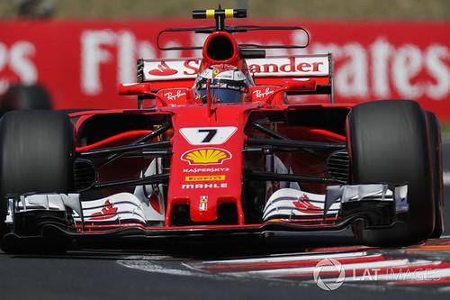 Räikkönen ja Ferrari Unkari 2017