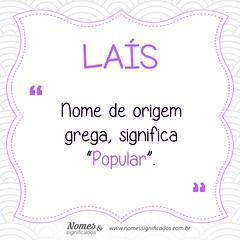 Significado do nome Laís