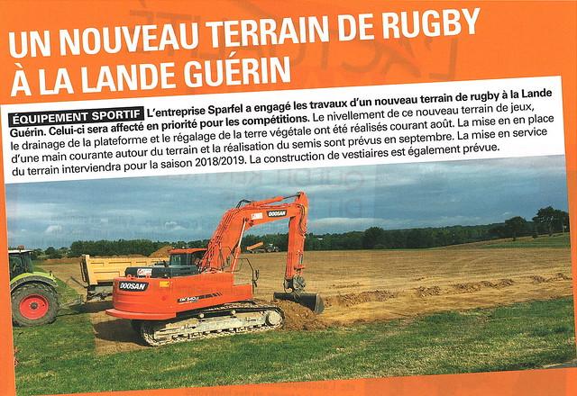 Nouveau terrain de rugby