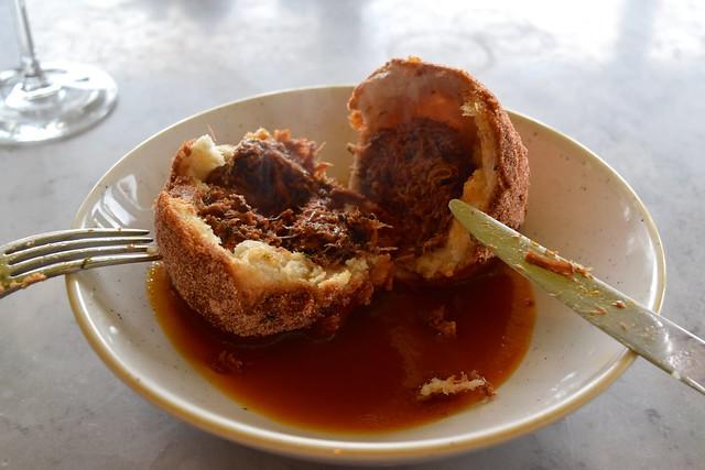 Ox Cheek Doughnut at Duck & Waffle | www.rachelphipps.com @rachelphipps