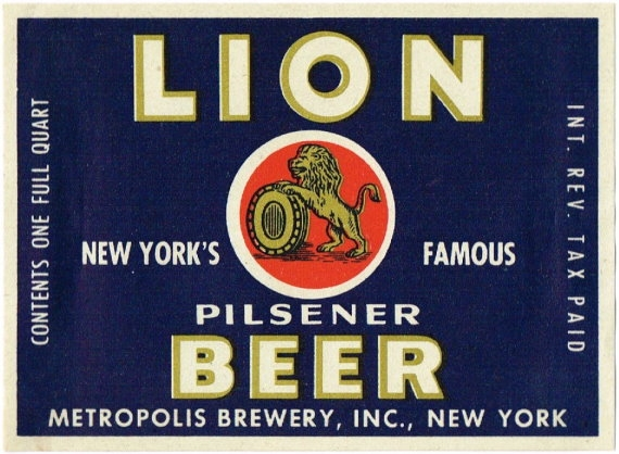 Lion-Pilsener-Beer-Labels-Metropolis-Brewery-Inc