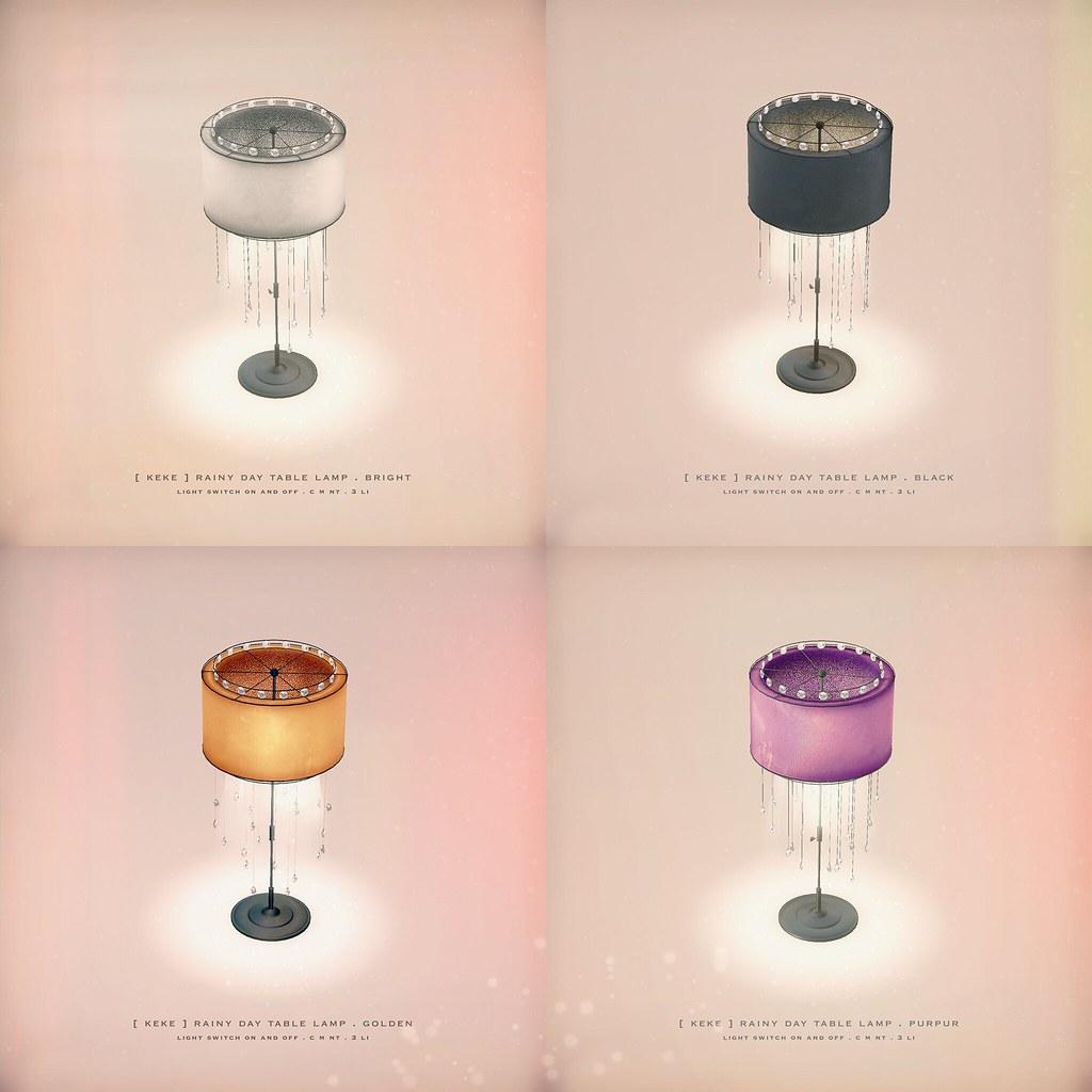 [ keke ] rainy day table lamp - TeleportHub.com Live!