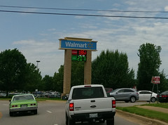 Old green Nova, and new green lettering on the fuel center sign