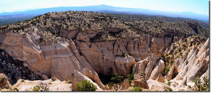 Above the tent rocks, seen from the upper part of the Slot Canyon Trail (1)