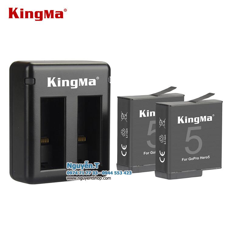 Bộ 2 pin  và sạc đôi KingMa cho GoPro Hero 5 6