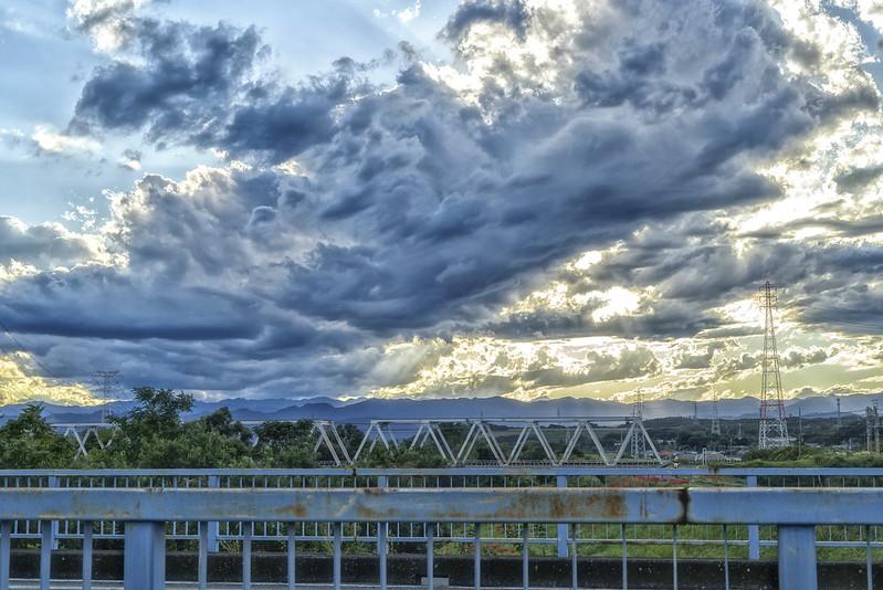 From Takasaka bridge on Rote407 ,SAITAMA Japan