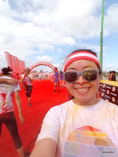 Color Run finish line selfie