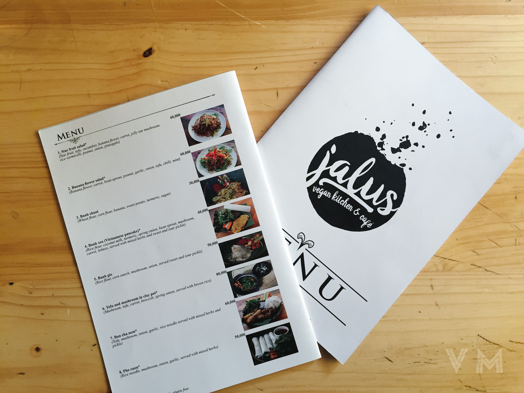 Vegan Vietnamese Menu from Jalus Vegan Kitchen