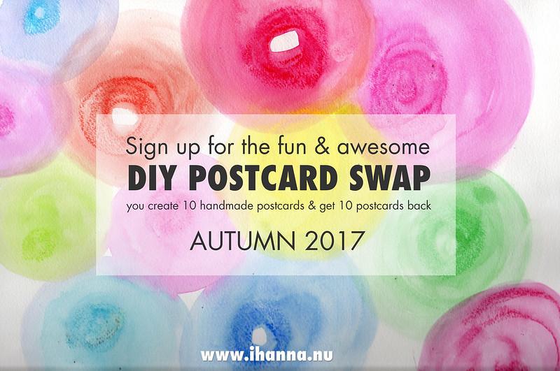 Join iHanna's DIY Postcard Swap Autumn  2017