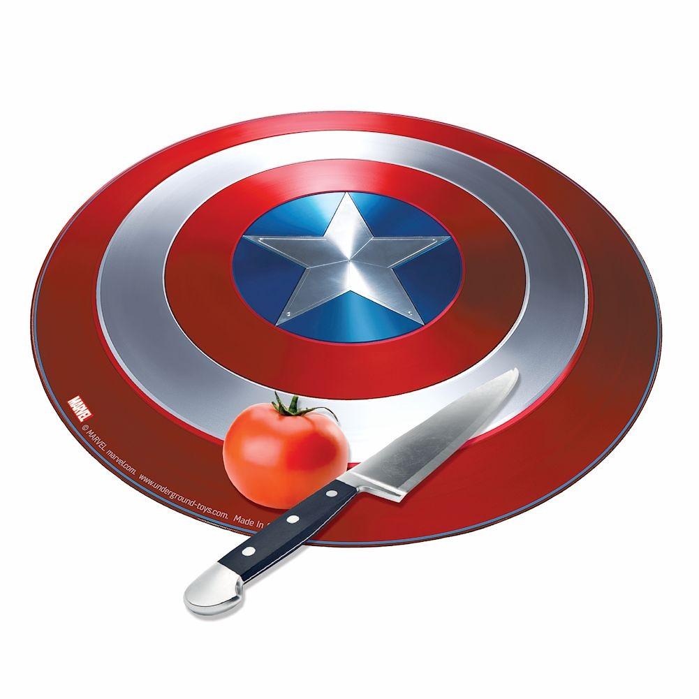 Thớt kính cường lực in 3D hình khiên của Captain America iGH-3153 cực kỳ thú vị