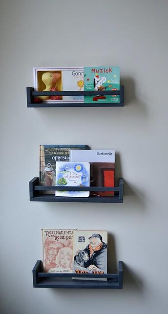 Rekjes voor boeken kinderkamer