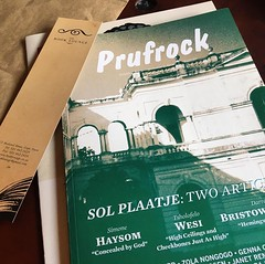 Morning Reading Material  @booklounge @prufrockmagazine #literature #magazine #writerslife #southafrica