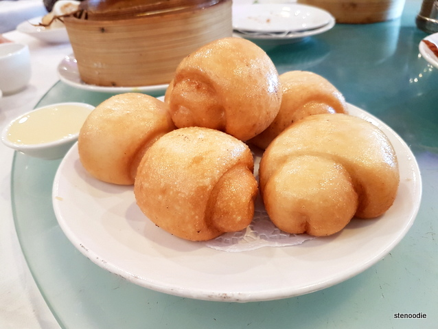 Deep Fried Small Bun with condensed milk