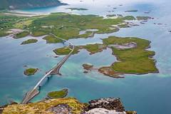 Fredvang Bridges from Volandstind Summit - Landscape