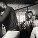 Ghana, boxer in a boxing gym by Dietmar Temps