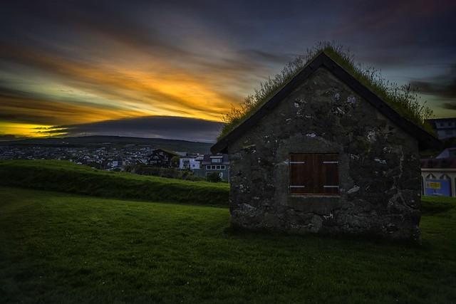 Turf Roof Sunset