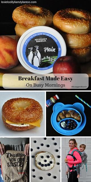 Easy Breakfast Ideas for the whole family on busy mornings! #BrueggersBunch {sponsored - @Bruegger's Bagels}