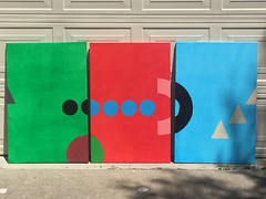 Shapes Triptych Green, Red, Blue - IMG_5089 (1)