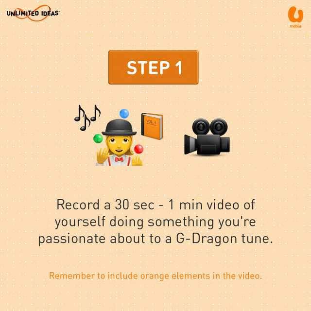 U Mobile G-Dragon Contest - Step 1